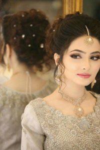 Latet Pakistani Bridals Hairstyle Ideas & Jwelery Designs 2018-2019 (15)