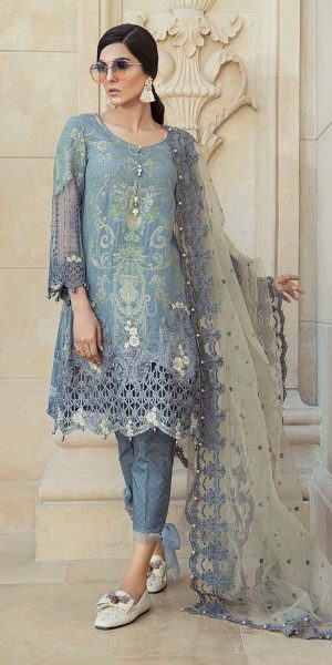 Maria.B Latest Summer Lawn Collection 2018-2019 Complete Catalogue (20)