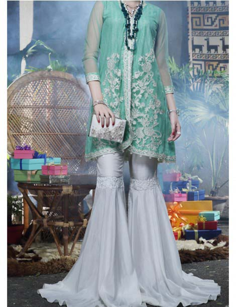 Gown Style With Sharara