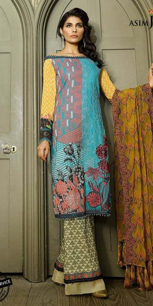 Asim Jofa Best designers Eid Lawn Dresses 2018 (1)