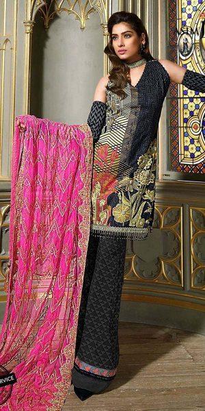 Asim Jofa Best designers Eid Lawn Dresses 2018 (2)