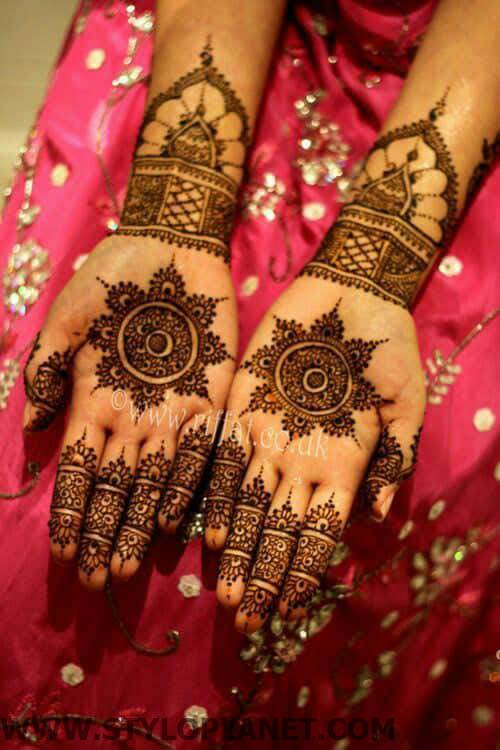 Fabulous Latest Bridal Mehndi Designs For Hands and Feet 2018-2019