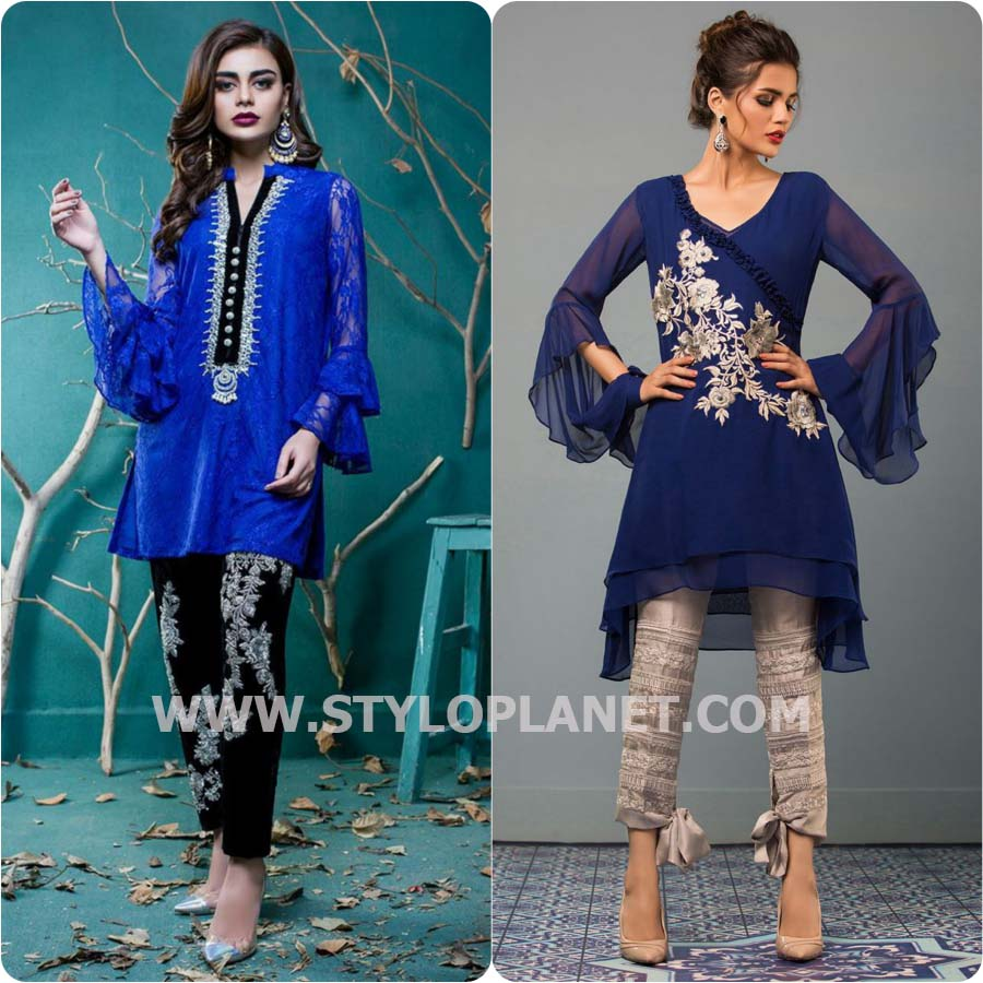 Party wear Dresses with Bell Sleeves