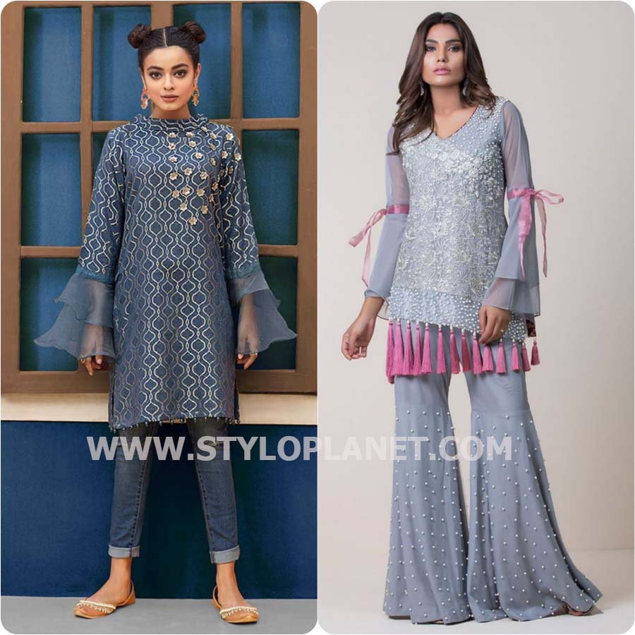 Latest Bell sleeves Dresses designs