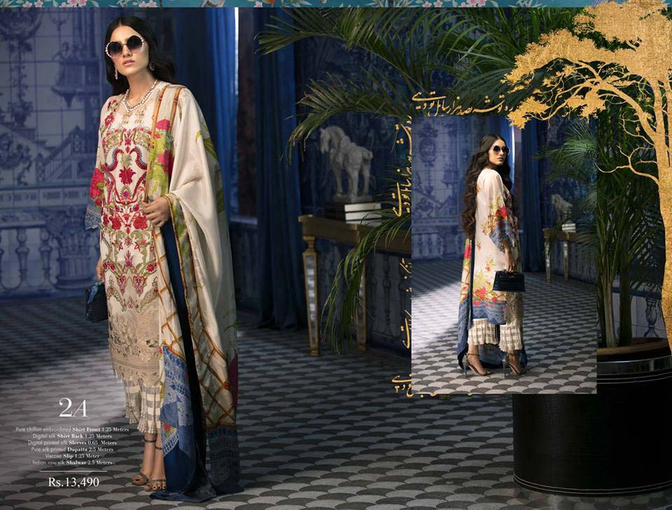 Sana Safinaz Luxury Silk Chiffon 2018