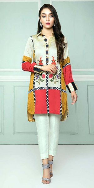 CROSS STITCH WINTER COTTON SATIN EMBROIDERED COLLECTION 2018-2019 (11)