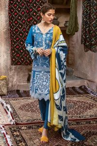 CROSS STITCH WINTER COTTON SATIN EMBROIDERED COLLECTION 2018-2019 (18)