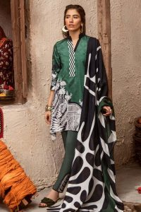 CROSS STITCH WINTER COTTON SATIN EMBROIDERED COLLECTION 2018-2019 (2)