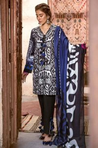 CROSS STITCH WINTER COTTON SATIN EMBROIDERED COLLECTION 2018-2019 (20)