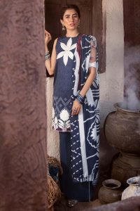 CROSS STITCH WINTER COTTON SATIN EMBROIDERED COLLECTION 2018-2019 (21)