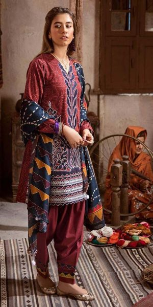 CROSS STITCH WINTER COTTON SATIN EMBROIDERED COLLECTION 2018-2019 (24)