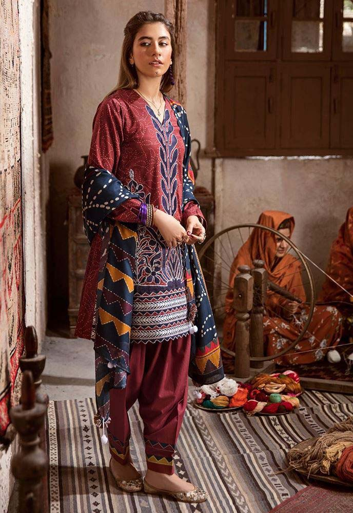 CROSS STITCH WINTER COTTON SATIN EMBROIDERED COLLECTION 2018-2019
