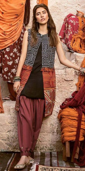 CROSS STITCH WINTER COTTON SATIN EMBROIDERED COLLECTION 2018-2019 (6)
