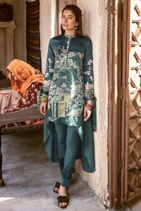 CROSS STITCH WINTER COTTON SATIN EMBROIDERED COLLECTION 2018-2019 (7)