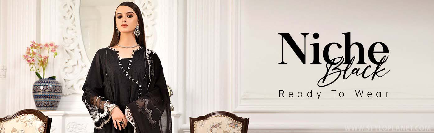 Latest Black and White Dresses Collection By Pakistani Brands 2021