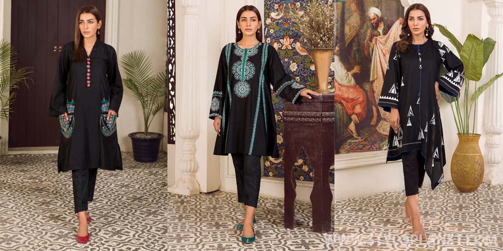 Kross Kulture Women Black and White Collection for Muharram 2021