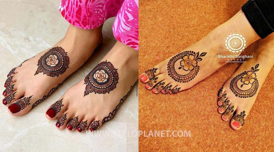 Latest Foot and Leg Mehndi Designs 2021 for Brides
